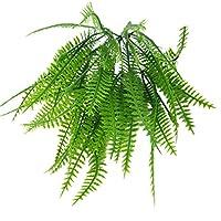 B Blesiya 人工的な葉のシミュレーション長い茎のシダの葉、の緑の葉の植物58cmの長い茎、結婚式の花の壁の装飾 - c
