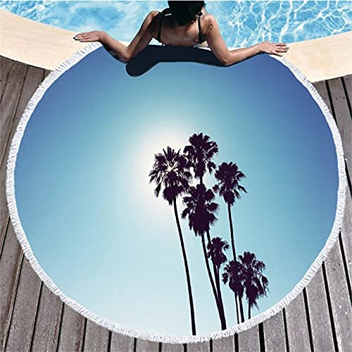 IAMZHL Toalla de baño Toalla de Playa Borla Microfibra Redonda Toallas de baño de Viaje comprimidas Toallas de baño para Adultos Ducha-a1-150x150cm