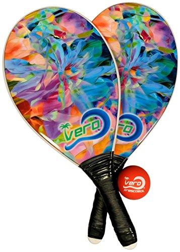 Frescobol Fiberglass Beach Paddleball Paddle set, Official Ball, Bag