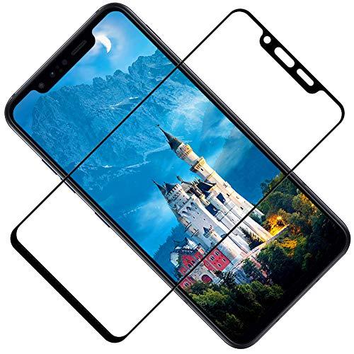 TOCYORIC Panzerglas Schutzfolie für LG G8S ThinQ, 2 Stück, 3D Panzerglasfolie für LG G8S ThinQ, Anti- Kratzer, Bläschenfrei, 9H Härte, HD-Klar Displayschutzfolie für LG G8S ThinQ