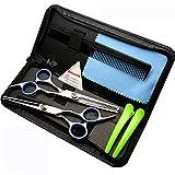 Professionelle Friseurschere Set, Runde Sicherheits-Friseurschere und Effilierschere 6 Zoll für Kinder & Baby