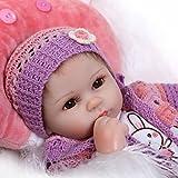 Pinky Reborn Muñecas 18 Pulgadas 45cm Muñecas Reborn Realistas Muñecas de Silicona Suave Bebe Reborn Muñecas Mejor Simulación Juguetes para Niños Regalos de Cumpleaños (E)