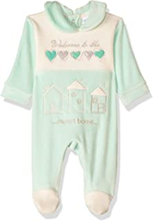 Papillon Stitched Detail Long Sleeves Snap Closure Bodysuit for Girls