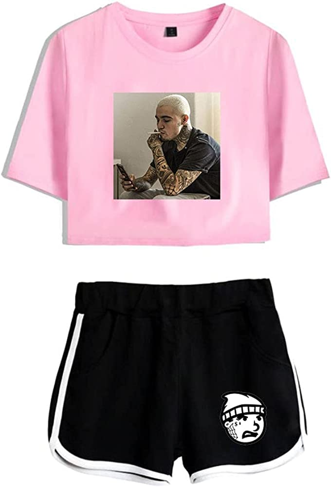 Tydres Gera MX 2 Piece Sets Hip Hop Short Sleeve Suit Womens Girl Set Casual Accessories Fashion Suit (PB-YM00709,XL)