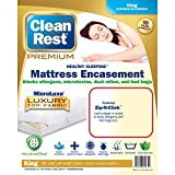 Clean Rest Premium Water-Resistant, Allergy and Bed Bug Blocking Mattress Encasement, King by CleanRest