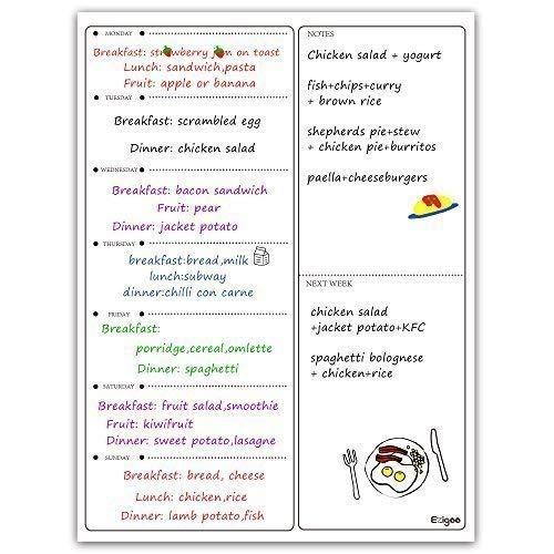 Calendario Magnético para Nevera -Planificador de Menú, Recordatorio, Lista de