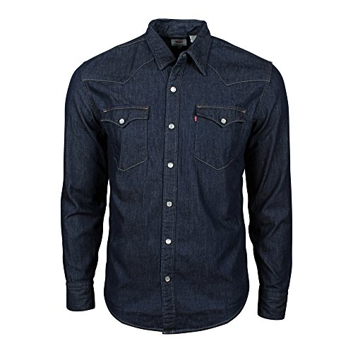 Levi's L/S Barstow Western Shirt, Camisa Casual de Manga Larga Para Hombre, Azul (Dark Indigo - Flat Finish),...