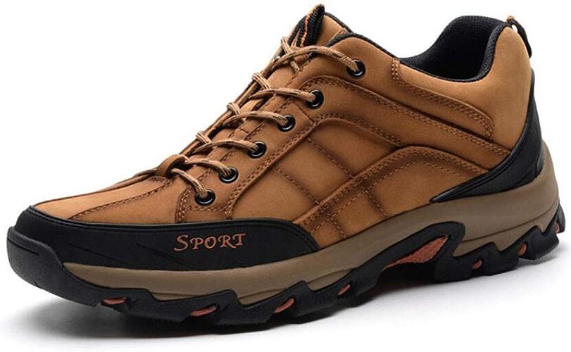 JBHURF Chaussure de randonnée pour Hommes, Bas, randonnée, Baskets imperméables en Cuir