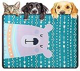 DMFSHl Cojín de Refrigeración para Mascotas, Alfombrilla de Enfriamiento de Seda de Hielo para Mascotas, Colchón para Dormir de Verano Suave de Tela Fresca para Perros, Gatos, Cachorros (44 * 65 cm)