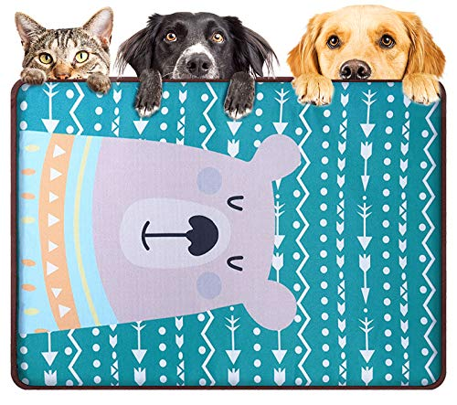 DMFSHl Kühlmatte für Hunde, Katzen Kühlkissen, Pet Ice Silk Kühlmatte, Cooler Stoff Weiche Sommerschlafmatratze für Hunde Katzen Welpe (44 * 65cm)