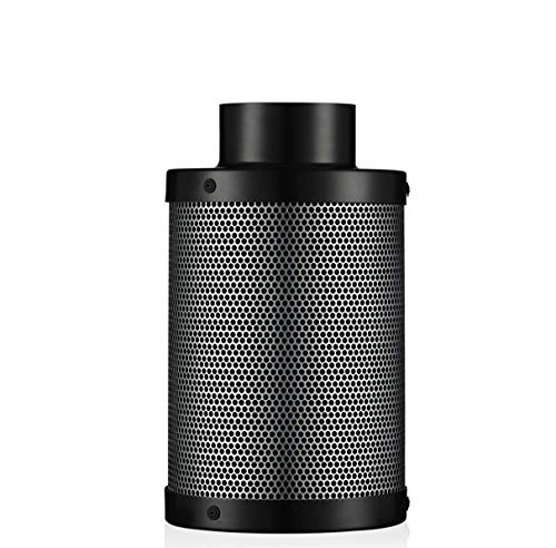Senua Professional Odour Control Air Carbon Filter Air Scrubber with Activated Charcoal 4', 5', 6' for Hydroponic Plants Grow Tent & Inline Duct Fan (4'/100mm)