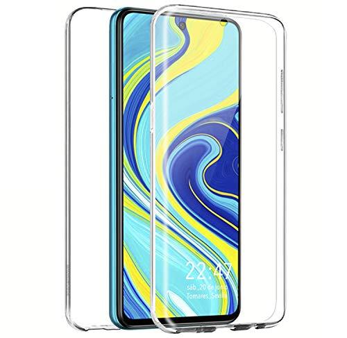 PLANETMOVIL [[ Compatible con Xiaomi Redmi Note 9S / Note 9 Pro ]] Carcasa Funda 360 Doble Cara 100% Transparente Completa Enteriza con Trasera rígida