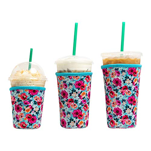 Baxendale Iced Coffee Sleeve for Cold Drink Cups - 3 Pack - Neoprene Iced Coffee Sleeve Cup Sleeves for Cold Drinks Reusable and Compatible with Starbucks, Dunkin