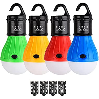 Gold Armour LED Camping Light - LED Lantern Camping Lantern Portable LED Tent Lantern Camping Gear Camping Equipment for Outdoor and Indoor (Multicolor)