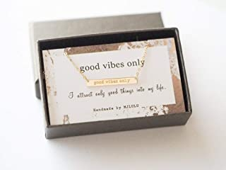 Good Vibes Only Necklace 14K Gold Filled Sterling Silver