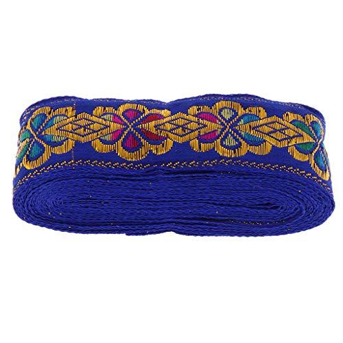 N\C 7M (45 Mm / 1,77 Pulgadas) Cinta de Jacquard Borde Tejido Borde Cosido Cinta Artesanía Decoración - Azul Real, Individual