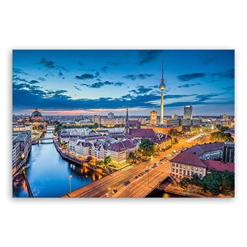 !!! SENSATIONSPREIS !!! Bilderdepot24 hochwertiges Leinwandbild - Berlin Skyline - Deutschland - 30 x 20 cm einteilig 2211 A