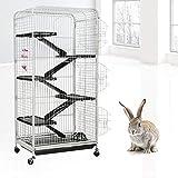 GOTOTOP 6 Schichten Iron Frettchenkäfig Rattenkäfig Kaninchenkäfig Kleintierkäfig mit 3...