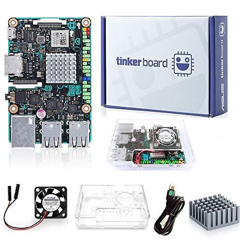 Tinker Board + Acrylic Case SBC RK3288 SoC 1.8GHz Quad Core CPU, Mali-T764 GPU