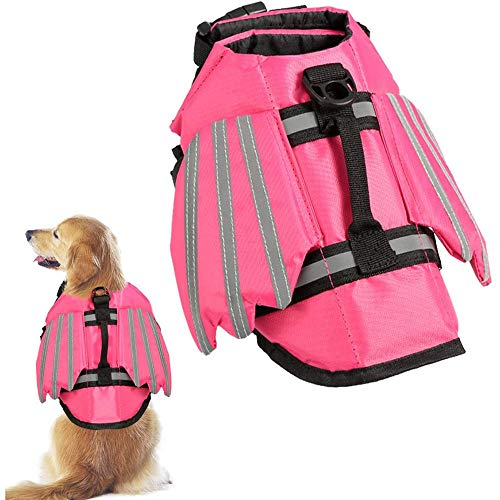 PETHOMEL Ruffwear Schwimmweste Für Hunde, Jacke Für Hunde Schwimmjacke Reflektierende Hundejacke Hundemäntel Wasserdicht wasserdichte Hundejacken,Rosa,M