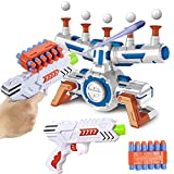 JOYIN Shooting Game Target Set with 10 Floating Ball Targets and 2 Foam Darts Toy Guns, 24 Foam Darts, 2 Convenient Clips for Kids Boys & Girls Indoor Play