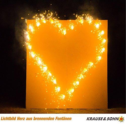 Krause & Sohn Lichterbild: Brennendes Herz, fertig montiert, zur Hochzeit, Liebeserklärung