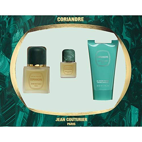 JEAN COUTURIER Coffret Coriandre Eau de Toilette 50 ml + Gel Douche 50 ml + Miniature 9 ml