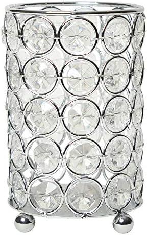 Elegant Designs Elipse Crystal Flower Candle Holder Wedding Centerpiece Makeup Brush or Pen product image