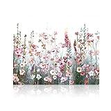 SUMGAR Pintar por Numeros Adultos Flores Cuadros para Pintar por Numeros Equipo De Bricolaje Acrílica Al Óleo Pintura por Números en Lienzo DIY Paint by Numbers Adult 40 x 50 cm (sin Marco)