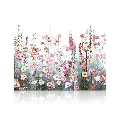 SUMGAR Malen nach Zahlen Erwachsene Blumen Bunt DIY Öl Leinwand Gemälde Set für Anfänger & Kinder Acrylic Malen Malerei Heimwerk 40x50 cm (Ohne Rahmen)