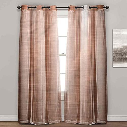 Cortinas para dormitorio, abstractas, industriales, modernas, cortinas para sala de estar (2 paneles de ancho 122 x largo 96 pulgadas)
