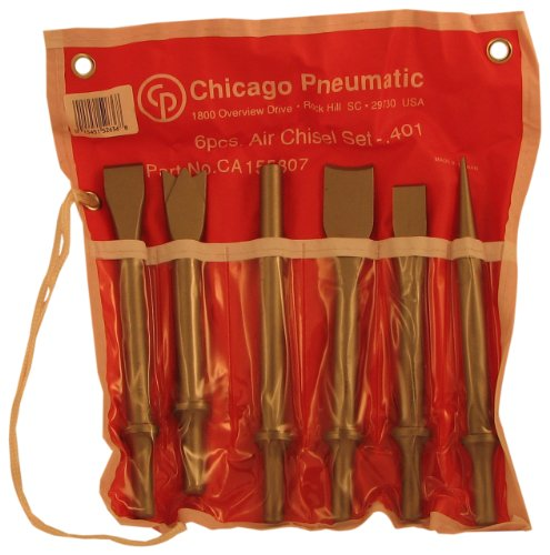 Chicago Pneumatic CA155807 6 Piece Chisel Kit