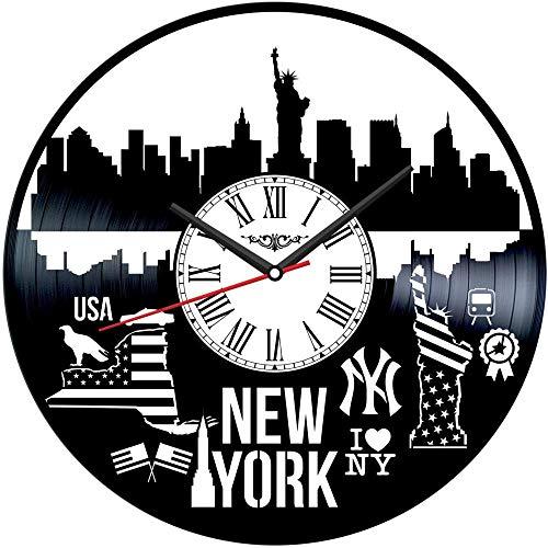 XYVXJ El Reloj de Pared New York Record Ofrece Hechos a Mano para Hombres, Mujeres, Amigos y niños.