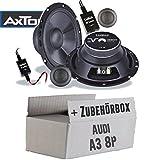 Lautsprecher Boxen Axton AE652C | 16cm 2-Wege Auto Einbauzubehör - Einbauset für Audi A3 8P - JUST SOUND best choice for caraudio