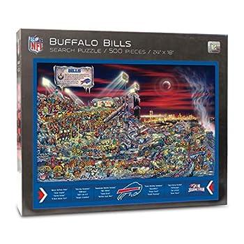 YouTheFan NFL Buffalo Bills Joe Journeyman Puzzle - 500-piece Team Color 18  x 24  - Finished puzzle size