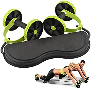 Revoflex Xtreme -New Core Double Wheels Ab Roller Pull Rope Abdominal Waist Slimming abdominal exercise equipment by Alisable