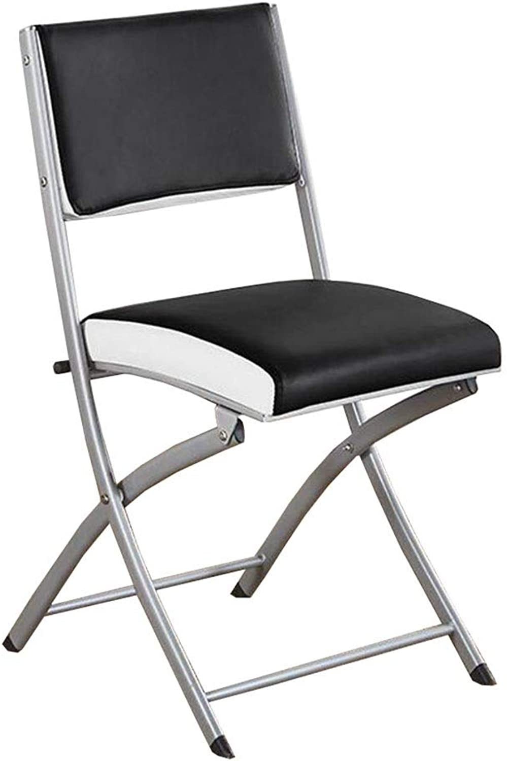 Folding Chair Dall Office Reception Desk Chairs Easy Storage Backrest Chair Armrests Conference Chair (color   T1)
