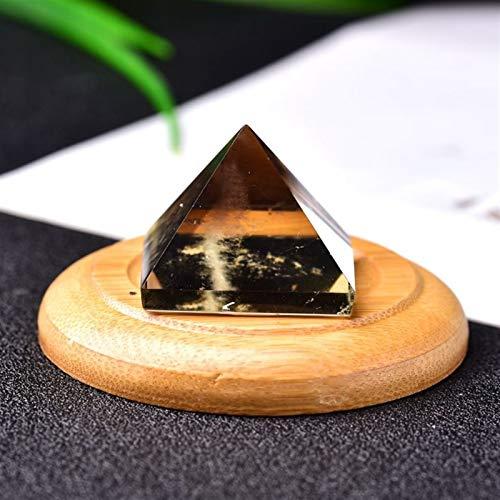 HSIOVE □ super schöner Aatural Kristall Rauchquarz Mineral Pyramide kann for Hauptdekoration DIY Geschenke verwendet Werden (Color : Smoky Quartz, Size : 1PC)