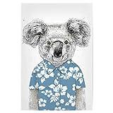 artboxONE Poster 75x50 cm Tiere Summer Koala (Blue)