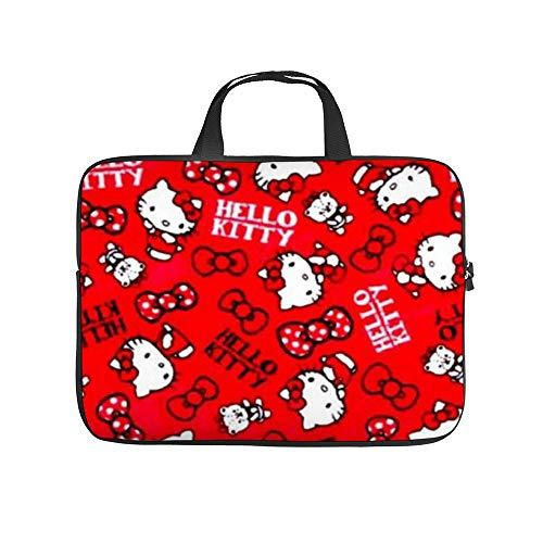 Rote Helo Kitty Laptop-Tasche mit Reißverschluss, 25,4-43,2 cm