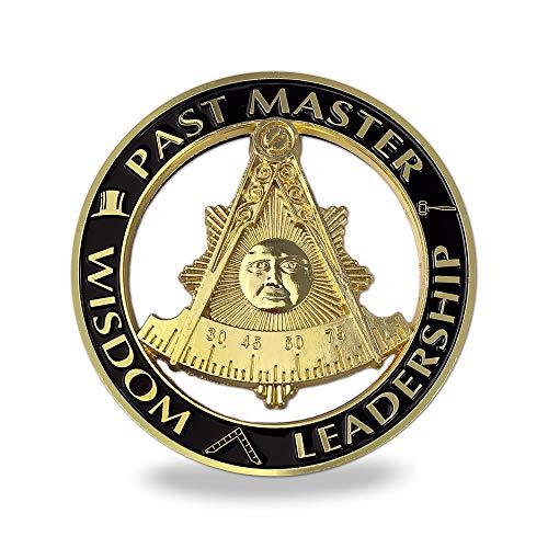 Past Master Masonic Car Emblem Auto Decal Freemason with Square Sticker