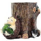 LYYAN Asintiendo Cute Hedgehog Sculpture Pen Pencil Holder Cup...