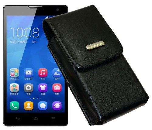 Vertikal Etui für / Huawei Honor 3C / Köcher Tasche Hülle Ledertasche Vertical Hülle Handytasche mit einer Gürtelschlaufe auf der Rückseite
