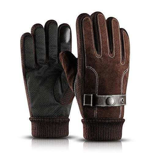 LLZGPZST Tactische handschoenen, winter-man-handschoenen, warme outdoor-sport-mode-volle vinger-handschoenen met zachte thermische winddicht touchscreen