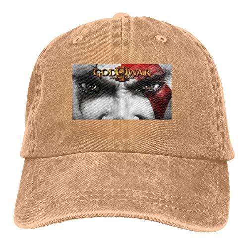 MERCHA Personalized Print Casual Caps God of War III Remastered Classic Baseball-cap