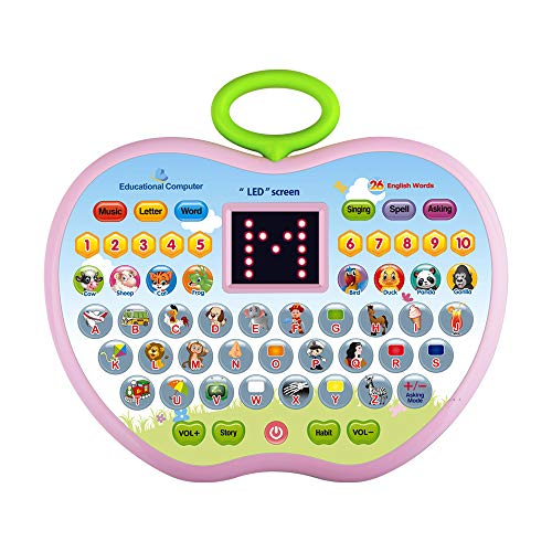 TICE Gift for 1-6 Year Old Boys, Learning Toy for 2-4 Year Old Girls Kids Educational Tablet Toy for 3-5 Year Old Girls Children Gift Age 1 2 3 Girl Boy Birthday Toy Gift for 12-36 Month Girl