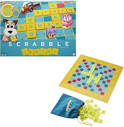 Scrabble Junior, Jeu de Société et de Lettres pour enfants dès 6 ans, version anglaise, Y9667