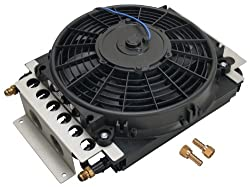 Derale 13700 remote transmission cooler with fan - best transmission cooler for drag racing - Transmission Cooler Guide