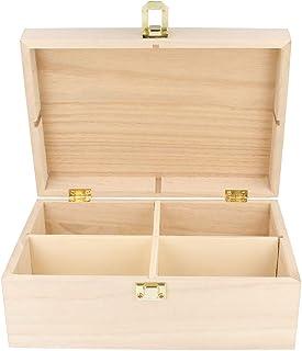 Artemio 14001012 Boîte a Thé en Bois a Décorer 20 x 14 x 8 cm