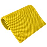 Barber Tool Mat Hairdressing Tools Non‑Slip Heat Resistant Mat for Curling Irons Flat Irons Hair Clippers Scissors Combs Storage Pad for Barber Salon Use(yellow)
